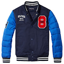 Buy Tommy Hilfiger Boys' Varsity Jacket, Navy Online at johnlewis.com