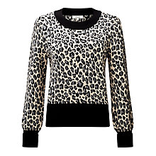 Buy Somerset by Alice Temperley Leopard Print Jumper, Grey Online at johnlewis.com