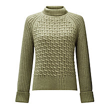 Buy Somerset by Alice Temperley Chunky Zig Zag Knit Jumper, Sage Online at johnlewis.com
