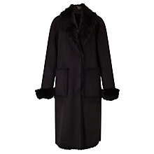 Buy Bruce by Bruce Oldfield Faux Shearling Coat, Black Online at johnlewis.com