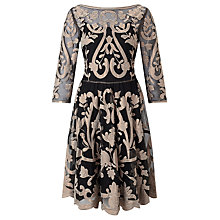 Buy Somerset by Alice Temperley Metallic Embroidered Dress, Black/Metallic Online at johnlewis.com