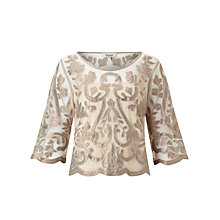 Buy Somerset by Alice Temperley Metallic Embroidered Top Online at johnlewis.com