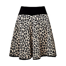 Buy Somerset by Alice Temperley Leopard Print Knit Skirt, Grey Online at johnlewis.com