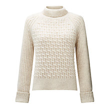 Buy Somerset by Alice Temperley Chunky Zig Zag Knit Jumper, Cream Online at johnlewis.com