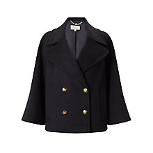 Buy Somerset by Alice Temperley Pea Coat, Black Online at johnlewis.com