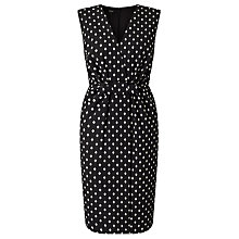 Buy Bruce by Bruce Oldfield Jacquard Spot Dress, Black Online at johnlewis.com