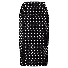Buy Bruce by Bruce Oldfield Jacquard Spot Skirt, Black Online at johnlewis.com