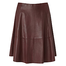 Buy Samsoe & Samsoe Pilica Leather Skirt, Decadent Choco Online at johnlewis.com