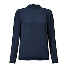 Buy Samsoe & Samsoe Theta T-Neck Blouse, Dark Sapphire Online at johnlewis.com