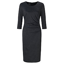 Buy Gerry Weber Jersey Jacquard Dress, Black/Blue Online at johnlewis.com