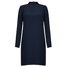 Buy Samsoe & Samsoe Theta T-Neck Dress, Dark Sapphire Online at johnlewis.com