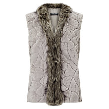 Buy Gerry Weber Faux Fur Gilet, Dark Taupe Online at johnlewis.com