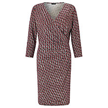 Buy Gerry Weber Print Jersey Wrap Dress, Burgundy/Ecru Online at johnlewis.com