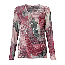 Buy Gerry Weber Burnout Print Jersey Top, Multi Online at johnlewis.com