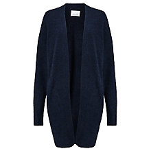 Buy Samsoe & Samsoe Nor Longline Cardigan, Dark Blue Melange Online at johnlewis.com