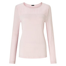 Buy Gerry Weber Pleat Yoke Jersey Top, Powder Online at johnlewis.com