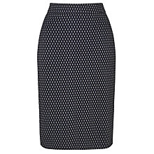 Buy Gerry Weber Stretch Jersey Jacquard Pencil Skirt, Black/Blue Online at johnlewis.com