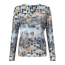 Buy Gerry Weber Burnout Print Top, Multi Online at johnlewis.com