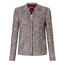 Buy Gerry Weber Textured Blazer, Burgundy/Ecru Online at johnlewis.com