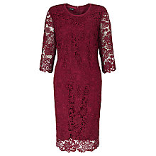 Buy Gerry Weber 3/4 Sleeve Lace Dress, Marsala Online at johnlewis.com