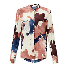 Buy Samsoe & Samsoe Milly Printed Shirt, Shibori Rosin Online at johnlewis.com