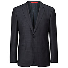 Buy HUGO by Hugo Boss C-Jeys Wool Silk Melange Check Blazer, Dark Blue Online at johnlewis.com