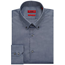 Buy HUGO by Hugo Boss C-Gerd Chambray Regular Fit Shirt, Navy Online at johnlewis.com