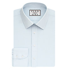 Buy Thomas Pink Seabing Check Super Slim Fit Shirt, Pale Blue/Green Online at johnlewis.com