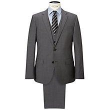Buy HUGO by Hugo Boss Huge/Genius Virgin Wool Three Piece Suit, Open Grey Online at johnlewis.com