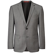 Buy HUGO by Hugo Boss C-Jeys Chevron Weave Blazer, Dark Grey Online at johnlewis.com