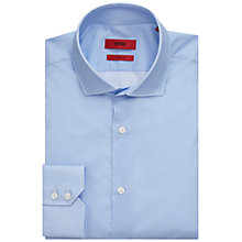 Buy HUGO by Hugo Boss C-Gordon Regular Fit Pattern Shirt, Light Blue Online at johnlewis.com