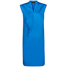 Buy Jaeger Frill Day Dress, Blue Online at johnlewis.com