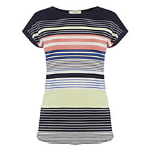 Buy Oasis Sashiko Stripe T-Shirt, Multi Online at johnlewis.com