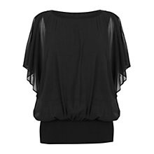 Buy Coast Libertina Calla Top, Black Online at johnlewis.com
