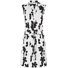 Buy Jaeger Floral Print Shirt Dress, Ivory/Black Online at johnlewis.com