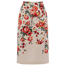 Buy Oasis Rose Print Pencil Skirt, Multi Online at johnlewis.com