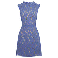 Buy Oasis Lace Dress, Light Blue Online at johnlewis.com