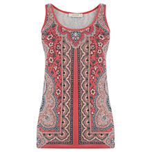 Buy Oasis Rhianna Paisley Vest Top, Orange Online at johnlewis.com