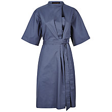Buy Jaeger Gathered Shirt Dress, Navy Online at johnlewis.com