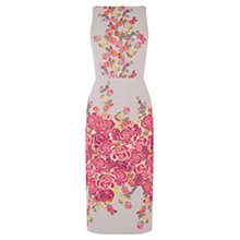 Buy Oasis Floral Jacquard Pencil Dress, Multi Online at johnlewis.com