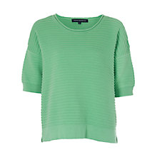 Buy French Connection Heatwave Dinka Crew Knit, Mineral Green Online at johnlewis.com