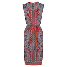 Buy Oasis Paisley Print Dress, Coral Online at johnlewis.com