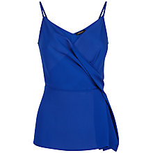 Buy Jaeger Silk Draped Top, Cobalt Online at johnlewis.com