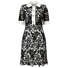 Buy Phase Eight Vanna Lace Shirt Dress, Black/Ivory Online at johnlewis.com
