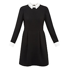 Buy Ted Baker Timu Embellished Collared Dress, Black Online at johnlewis.com
