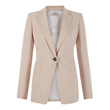 Buy Hobbs Lillie Long Jacket, Cappuccino Online at johnlewis.com