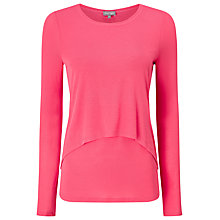 Buy Phase Eight Dita Double Layer Top, Lobster Pink Online at johnlewis.com
