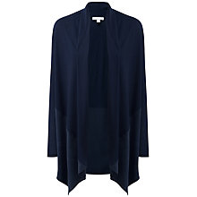 Buy Pure Collection Dalebury Silk Trim Cardigan, Navy Online at johnlewis.com
