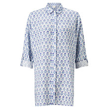 Buy East Lilith Oversized Linen Shirt, Blue/White Online at johnlewis.com