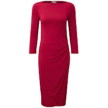 Buy Pure Collection Farrah Slash Neck Wrap Dress, Redcurrant Online at johnlewis.com